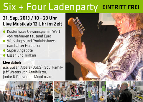Six + Four Ladenparty