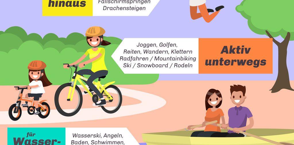 Infografik Outdoor Werbeartikel